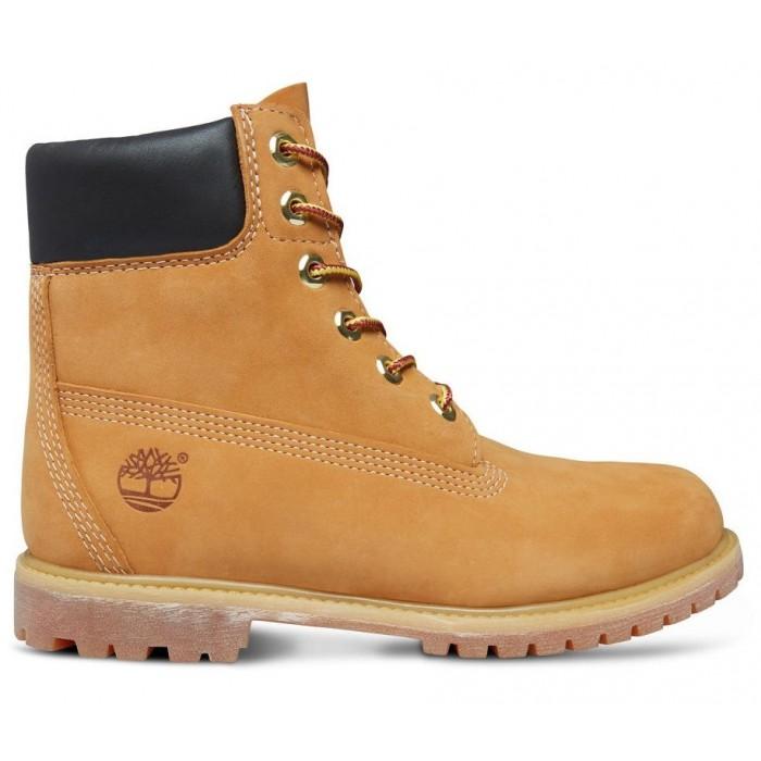 Женские ботинки Timberland 6-Inch Classic Premium Nubuck Waterproof Yellow (Мех) 10061-008