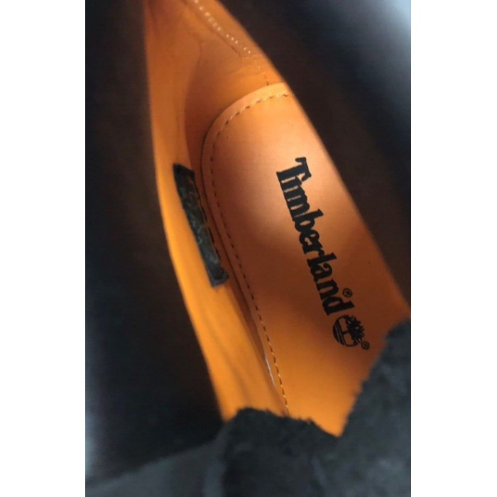 Мужские ботинки Timberland 6-Inch Premium Nubuck Waterproof Black (Термо) 10061-009