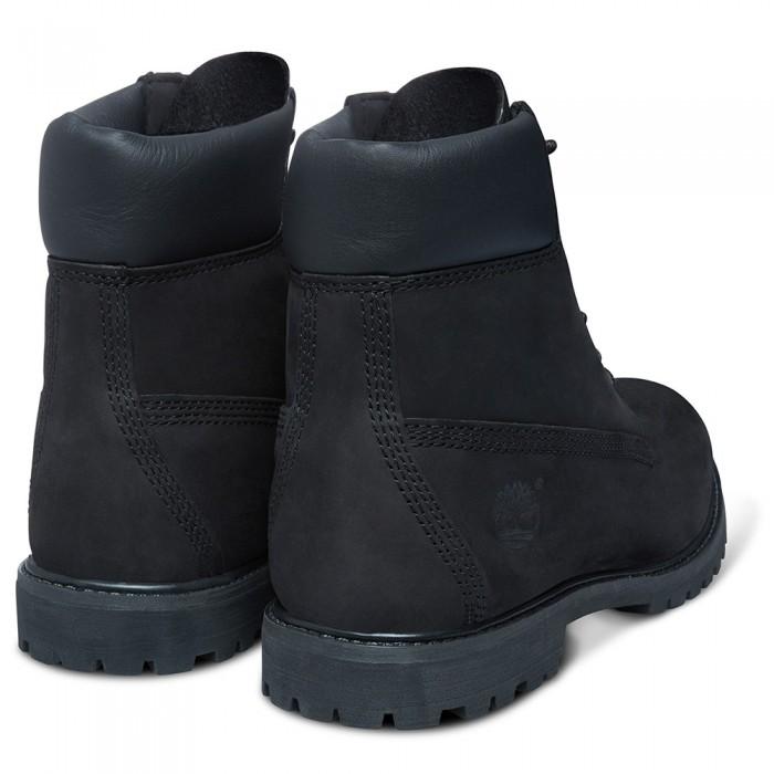 Женские ботинки Timberland 6-Inch Premium Nubuck Waterproof Black (Термо) 10061-010