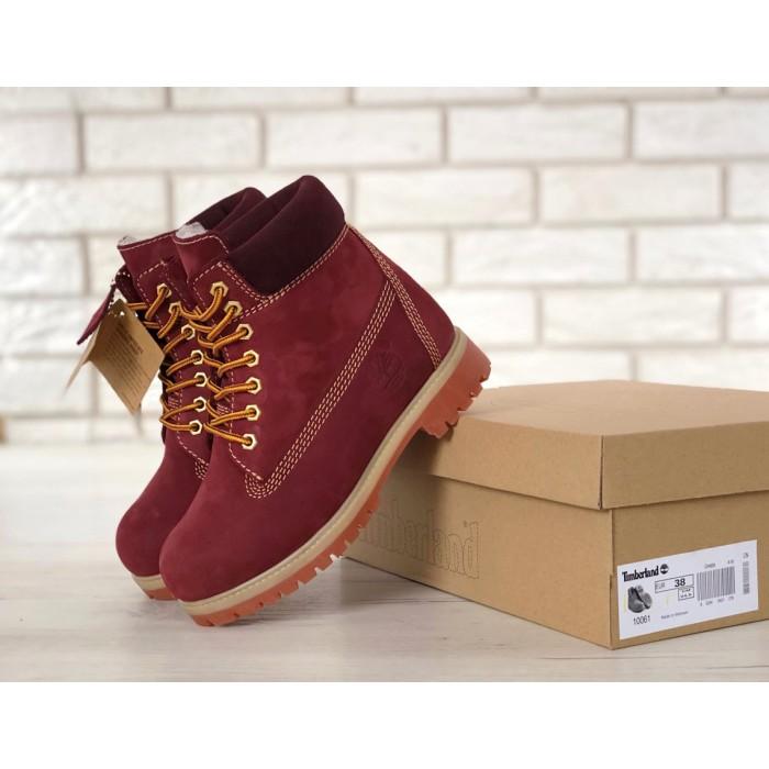 Женские ботинки Timberland 6-Inch Classic Premium Nubuck Waterproof (Мех) 10061-023