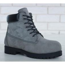 Женские ботинки Timberland 6-Inch Classic Premium Nubuck Waterproof Gray (Мех) 10061-025