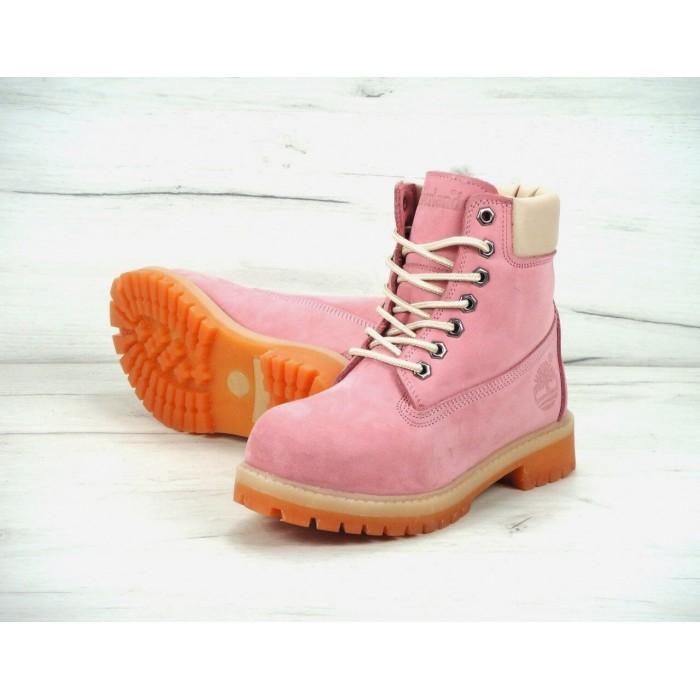 Женские ботинки Timberland 6-Inch Premium Nubuck Waterproof (Мех) 10061-026