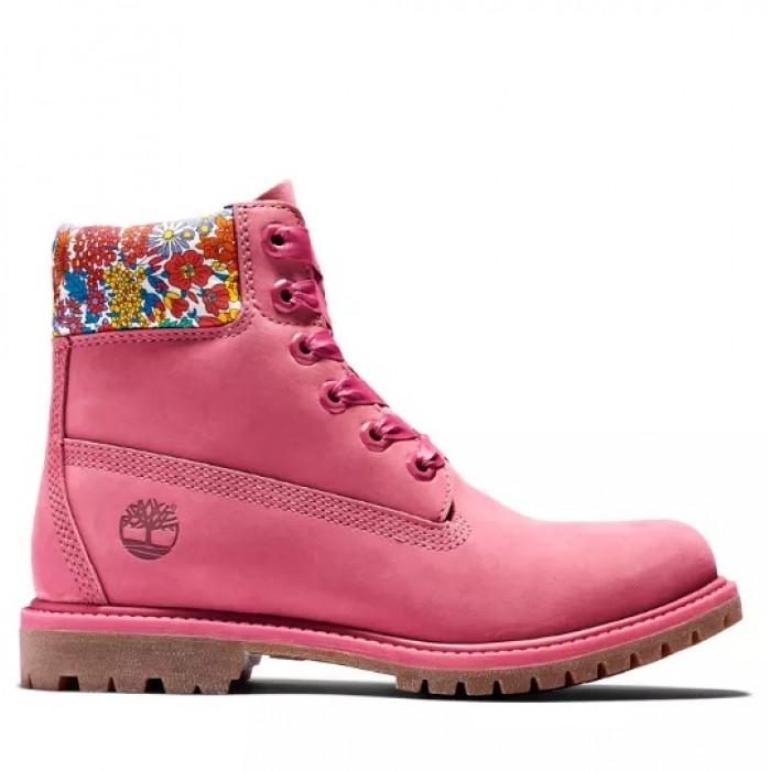 Женские ботинки Timberland X Liberty 6-Inch Pink 10061-033